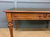 Very Good Victorian Burr Walnut Writing Table (4 of 16)
