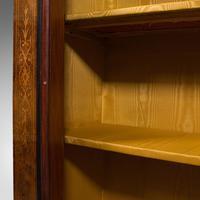 Antique Pier Cabinet, English, Walnut, Inlay, Display Cupboard, Victorian, 1870 (11 of 12)