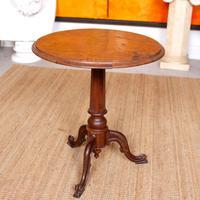 Georgian Walnut Oak Tripod Lamp Table (9 of 10)