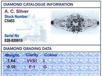 1.74ct Diamond & Platinum Solitaire Ring - French c.1930 (6 of 9)