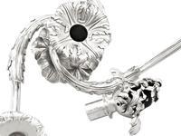 Sterling Silver Three Light Candelabrum Centrepiece - Antique George IV (6 of 21)