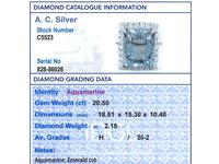 20.50 ct Aquamarine and 2.15 ct Diamond, Platinum Dress Ring - Vintage Circa 1950 (6 of 9)