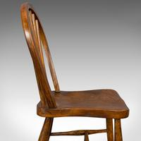 Antique Stick Back Chair, English, Elm, Beech, Station Seat, Victorian c.1870 (5 of 12)
