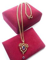 Antique Victorian Gold Amethyst & Seed Pearl Necklace (6 of 8)