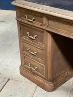 Quality 19th Century French Bleached Pedestal Desk (6 of 25)