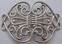 Victorian 1899 Hallmarked Solid Silver Nurses Belt Buckle William Hutton (2 of 8)