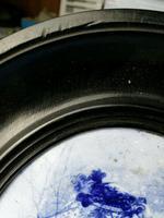 Rare Antique Royal Doulton Blue & White Mother & Girl Framed Oval Plaque C1910 (6 of 12)