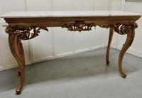 19th Century French Marble Top Gilt Centre Table & Matching Wall Mirror (4 of 11)