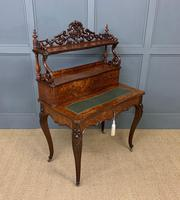 19th Century Plum Pudding Mahogany Bonheur Du Jour (10 of 19)