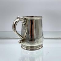 Antique George II Sterling Silver Pint Mug London 1728 Edward Vincent (4 of 7)