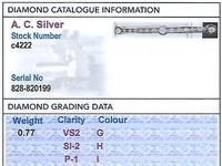 0.77 ct Diamond & 18ct Yellow Gold Bar Brooch - Antique c.1910 (8 of 9)