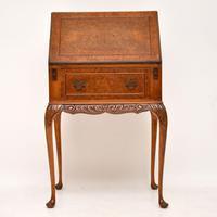 Antique Burr Walnut Writing Bureau (5 of 9)