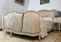 Antique French Full Corbeille King Size Bed Frame Curved Headboard & Footboard (10 of 13)