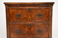 Antique Burr Walnut Bachelors Chest of Drawers (9 of 9)