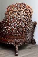 Burmese intricately carved settee in extremely good condition. (4 of 9)