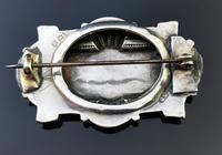 Victorian Silver Demi Parure, Earrings & Brooch (10 of 14)