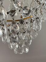 A Single Light French Waterfall Chandelier (3 of 8)