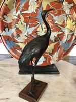 Antique Pair of Japanese Bronze Metal Crane Sculptures (10 of 12)