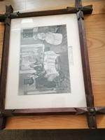 Antique Pair of Gothic Oak Frames (2 of 10)