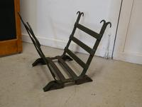 19th Century Blacksmith Made Inglenook Iron Log Carrier (2 of 7)