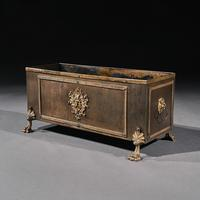 19th Century French Brass & Copper Table Planter Jardiniere (2 of 8)