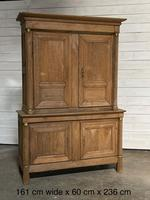 Wonderful French Empire Period Bleached Oak Linen Press (32 of 32)