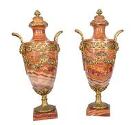 Pair of French Marble Urns Amphora Cassoulets Empire 1890 (3 of 16)