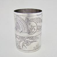 Fabulous Cased Pair of Victorian Silver Aesthetic Movement Napkin Ring by George Adams, London 1881 (5 of 7)