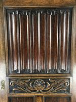 Early 20th Century Antique Oak Linenfold Hall Cupboard (4 of 13)