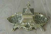 Fine William Tonks & Sons Marine Brass Inkwell c.1885 (2 of 7)