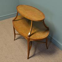 Quality Victorian Satinwood Two Tier Lamp Table (7 of 7)