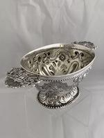 Victorian Antique Silver Fruit Bowl 1861 London William Stocker Sterling Bowl (2 of 11)