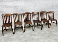 Matched Set of 6 Windsor Kitchen Chairs c.1890 (7 of 7)