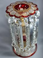 Magnificent Pair of Mid 19th Century Candle Lustres 'Possibly Baccarat' Gilded & Ruby Decoration (10 of 18)