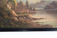 Pair of Romantic Oil Paintings English Landscape Barnstable Devon (7 of 9)