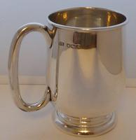 Viners 1960 Half 1/2 Pint Hallmarked Solid Silver Tankard Christening Mug 194g (2 of 10)