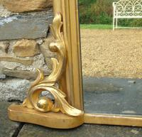 Large Antique French Arched Gilt Mirror of Unusual Size (5 of 8)