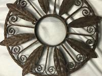 Pair of Rusted Antique 19th Century Spanish Wrought Iron Wall Roundels Sculptures (6 of 12)
