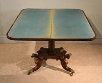 Regency Brass Inlaid Rosewood Card Table (3 of 6)