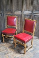 Set of 8 French Leather Dining Chairs (4 of 7)