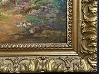 Original 19th Century British Farmland Countryside Landscape Oil Painting (9 of 11)