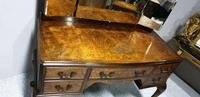 Queen Anne Burr Walnut Dressing Table & Stool (6 of 7)