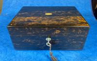 Victorian Coromandel Box with Mother of Pearl Escutcheons (8 of 14)