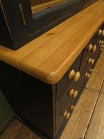Black Painted Pine Apothecary Cabinet Style Dresser with Multi Drawer Base (4 of 18)
