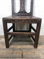Antique Victorian Carved Oak Chair (14 of 14)