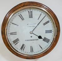 """Fabulous 12"""" English Fusee Dial Timepiece by Evan Foster 1878"""