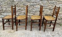 Set of 4 Antique Elm Country Chairs (7 of 13)