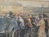 """Cattle Mart"" Watercolour by John Atkinson (3 of 8)"