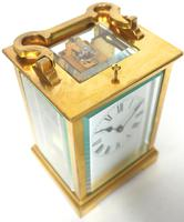 Antique French 8-Day Repeat Carriage Clock Bevelled Case with Enamel Dial  Gong Striking (3 of 5)