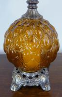 Pair of Large Vintage Glass & Figured Ormolu Table Lamps (7 of 10)